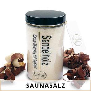 Saunasalz und Peeling mit Jojoba Öl von Odoro Essenzen. 100% Meersalz aus dem toten Meer für Sauna und Dusche.