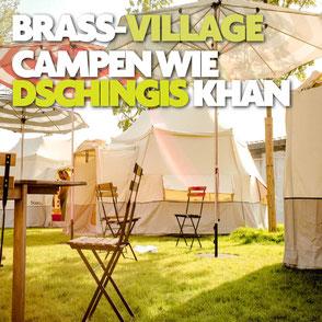 Camping plus auf dem Musikprob Brass-Festival