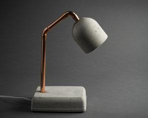 Beton Nachttischlampe