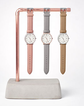 Uhrenhalter für drei Armbanduhren im BetonDesign