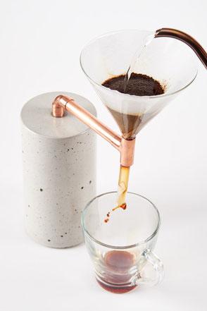 Beton Kaffeezubereiter für Pour Over Filterkaffee,