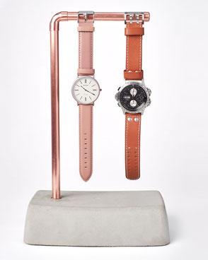 Beton Uhrenhalter für zwei Armbanduhren