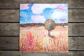 Kunst, Aquarell, Malerei, Intuitive Kunst, Christine Geier, Feenographie, Heilkunst, Heilsame Kunst, Visionäre Malerei, Krafttiere, Bäume, Naturkunst