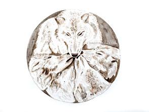 Wolf Wölfe Wolfsrudel Krafttier Aquarell Kunst Malerei