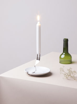 Candle Holder 'Fork' designed by Lucas & Lucas - available in our webshop