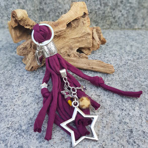 Taschenbaumler | Schlüsselanhänger | Quaste mit Charms
