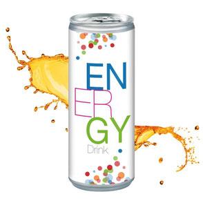 Werbeartikel Getränke Energy mit Logo bedrucke