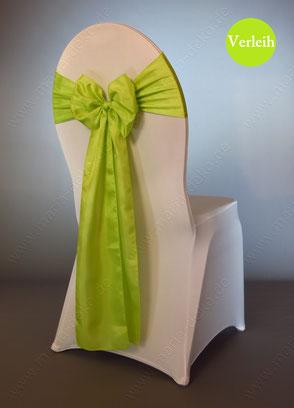 Stuhlschleifen in Farbe Grün mieten