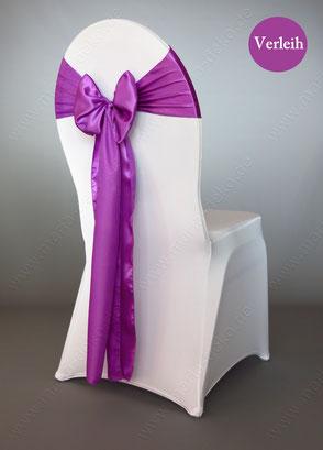 Stuhlschleifen in Farbe Lila / Flieder mieten