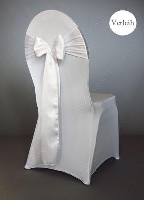 Stuhlschleifen in Farbe Weiß mieten