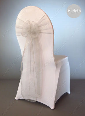 Stuhlschleifen in Farbe Silber Grau mieten