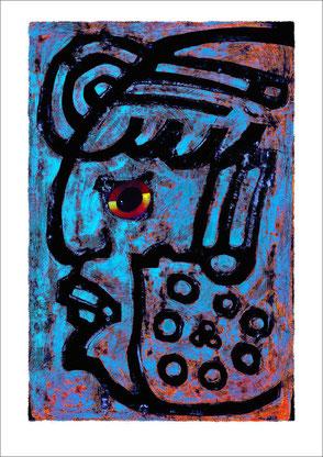 Maya Zeichen gemalt