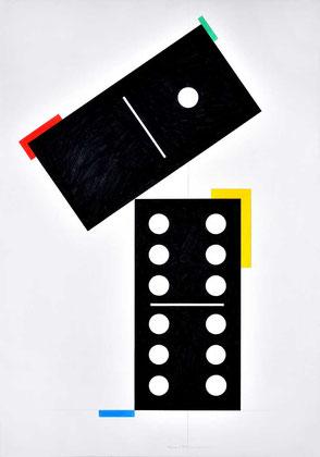 Domino gemalt