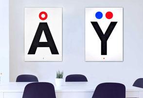 """Beispiel: """"Dänisches A"""" & """"Französisches Y"""""""