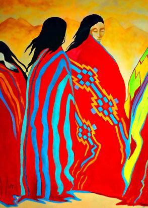 Kunstmalerei Indiander