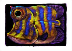 Kunstmalerei Fisch