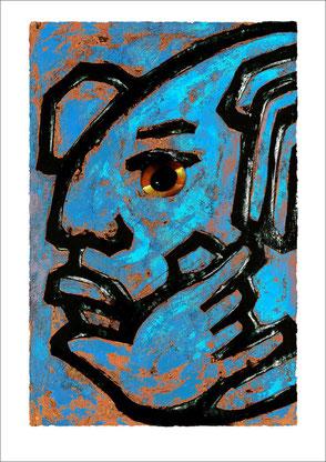 Mayazeichen blau