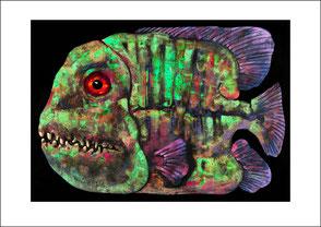 Kunstdruck Fisch