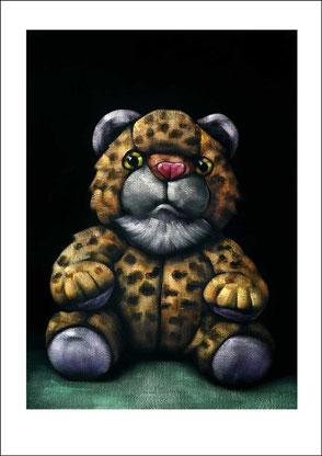 gemalter Löwe