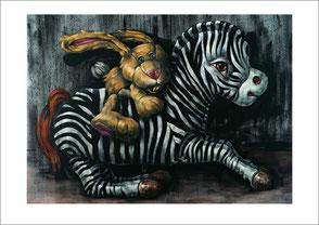 gemalte Tiere