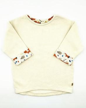 Bio Kinder Pullover handmade weiß