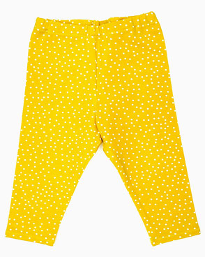 Bio Kinder Leggings handmade gelb mit Punkten