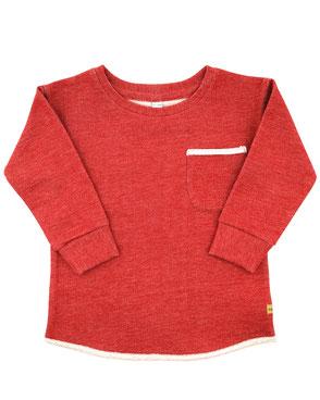 Bio Kinder Pullover handmade rot