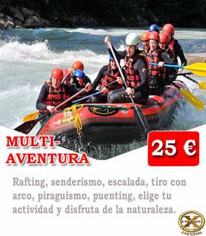 descenso en rafting en Málaga