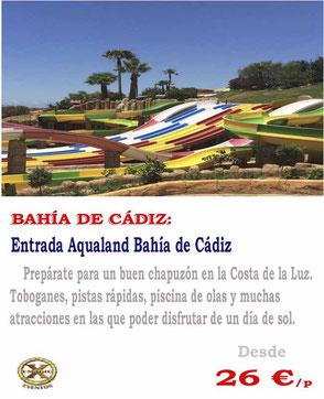 entradas de grupo a Aqualand bahia de Cádiz