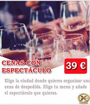 cena espectáculo Málaga