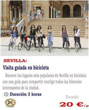 ruta en bicicleta en Sevilla