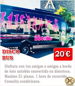 disco bus en Málaga