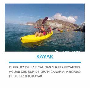 alquiler de kayak en las palmas