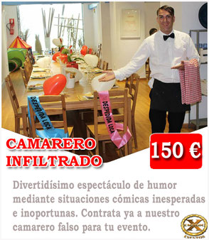 camarero falso en Málaga