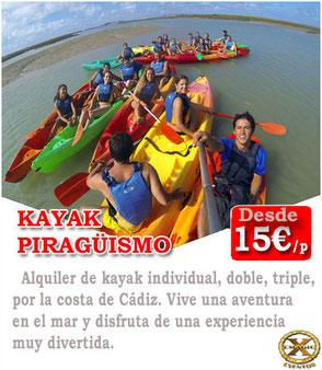 alquiler de kayak en Huelva