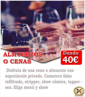 pack cena espectáculo en Las Palmas