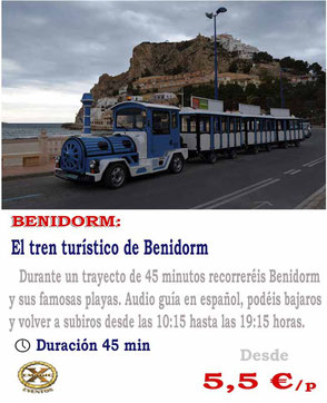 tren turístico Benidorm