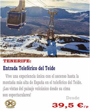 entrada teleférico del Teide