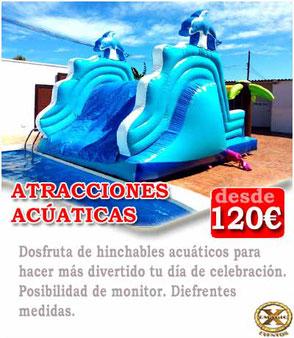 atracciones acuáticas para eventos en Cádiz