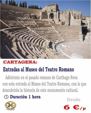 entradas al teatro romano Cartagena