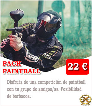 partida de paintball en Málaga