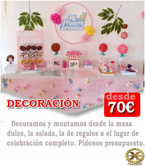decoración comunión Cádiz