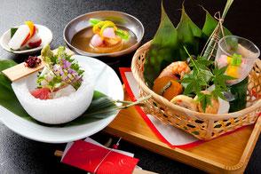 3,675円の松亀弁当のお料理一例