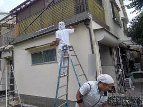 ベランダ排水が原因の雨漏り修理を尼崎市で行いました。