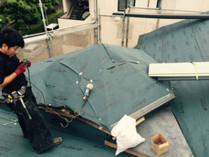 屋根のカバー工法を伊丹市で行いました。