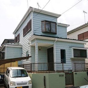 外壁色SR-420,屋根カバー工法▲