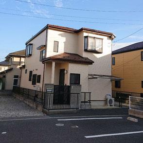 外壁色SR-407,屋根カバー工法▲