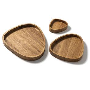 Schalen aus der Macani Kollektion aus Eichenholz © macani wooddesign