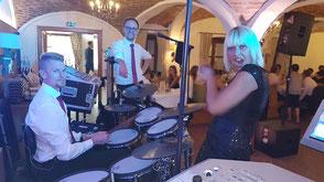 Hochzeitsband in Kaufbeuren - Tobias, Chris und Bianca