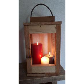 Lanterne bois de palette Hautes-Pyrénées